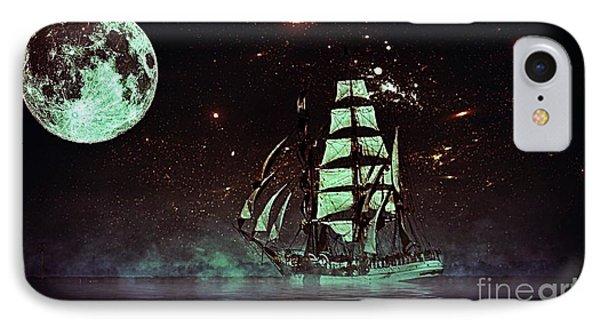 Moonlight Sailing IPhone Case by Blair Stuart