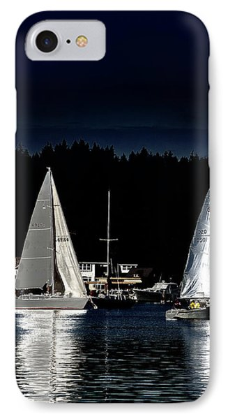 IPhone Case featuring the photograph Moonlight Sailing by David Patterson