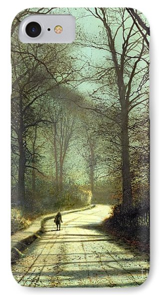 Street iPhone 7 Case - Moonlight Walk by John Atkinson Grimshaw