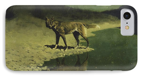 Moonlight, Wolf IPhone Case by Frederic Remington