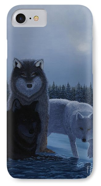 Moonlight Wolves IPhone Case by Stanza Widen