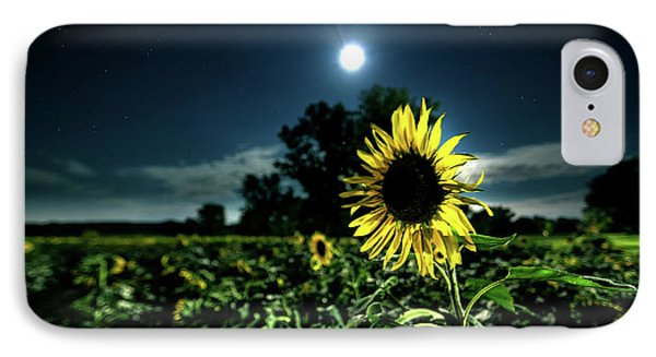 IPhone Case featuring the photograph Moonlighting Sunflower by Everet Regal