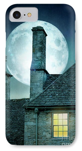 Moonlit Rooftops And Window Light  IPhone Case