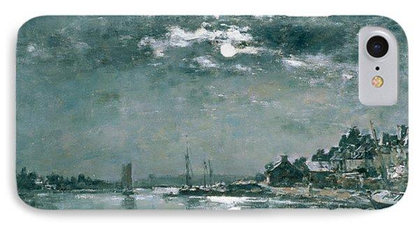Moonlit Seascape IPhone Case by Eugene Louis Boudin