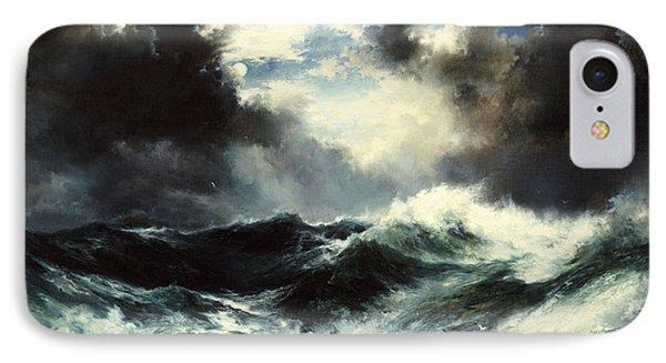 Moonlit Shipwreck At Sea IPhone Case by Thomas Moran