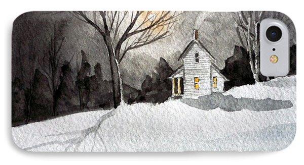 Moonlit Snow IPhone Case