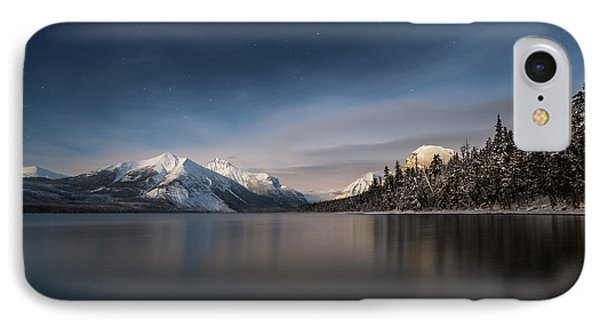 Moonlit Snowshoe // Lake Mcdonald, Glacier National Park IPhone Case