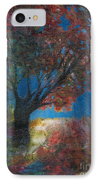 Moonlit Tree IPhone Case by Denise Hoag