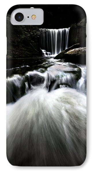 Moonlit Waterfall Phone Case by Meirion Matthias