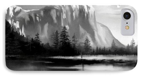 Moonlit Yosemite Lake IPhone Case