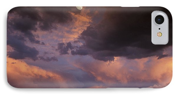 Moonrise And Sunset Phone Case by Sandra Bronstein