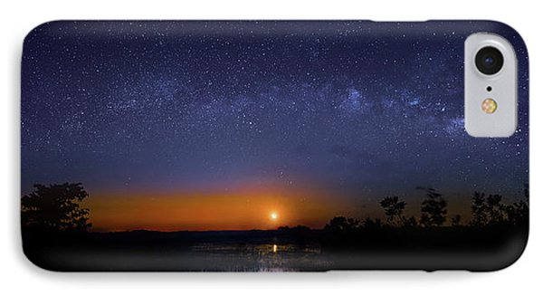 Moonrise At Milky Way Creek IPhone Case