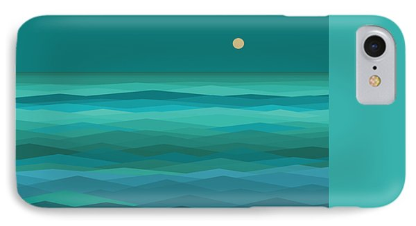 Moonrise At Sea IPhone Case by Val Arie
