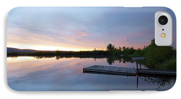 Moonrise At The Fishing Pond IPhone Case