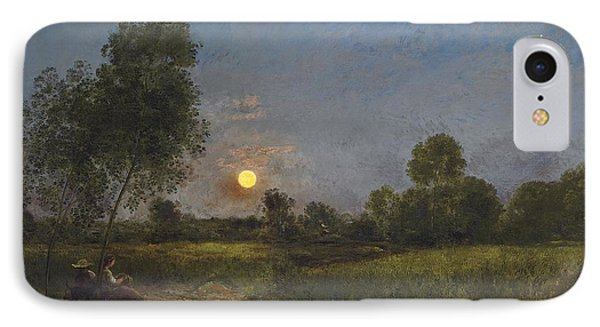 Moonrise Phone Case by Charles Francois Daubigny