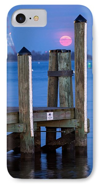 IPhone Case featuring the photograph Moonrise Dock by Jennifer Casey