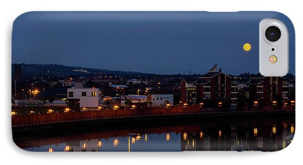 Moonrise In Belfast IPhone Case