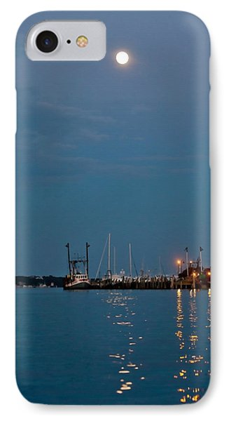 Moonrise Over Montauk IPhone Case by Art Block Collections