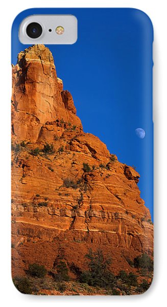 Moonrise Over Red Rock Phone Case by Mike  Dawson