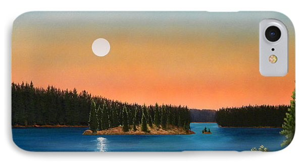 Moonrise Over The Lake Phone Case by Frank Wilson