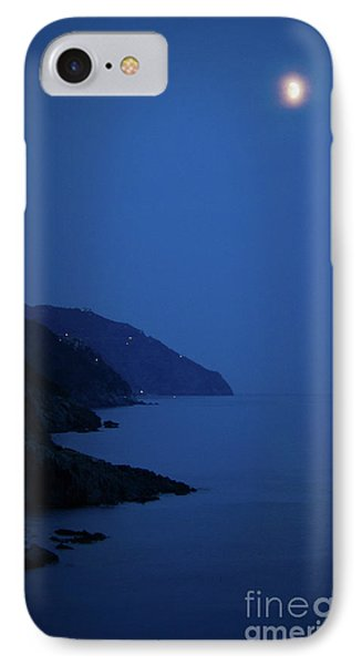 Moonrise Over Vernazza Phone Case by Doug Sturgess