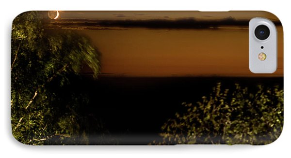 IPhone Case featuring the photograph Moonset At Bay Harbor by Onyonet  Photo Studios
