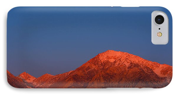 IPhone Case featuring the photograph Moonset At Dawn Above Mount Tom - Eastern Sierra California by Ram Vasudev