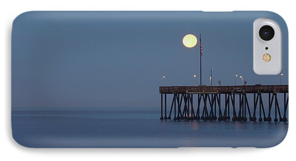 Moonset At The Ventura Pier IPhone Case by John A Rodriguez