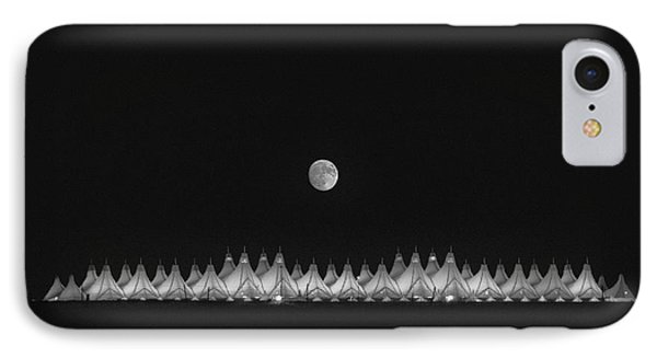 Moonset Over Dia IPhone Case by Kristal Kraft