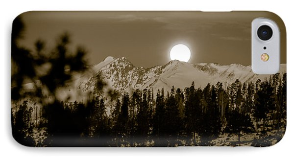moonset over the Rockies IPhone Case