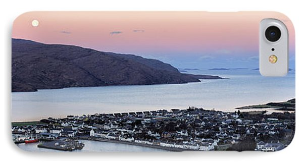 IPhone Case featuring the photograph Moonset Sunrise Over Ullapool by Grant Glendinning