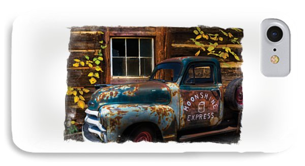 Moonshine Express Bordered IPhone Case by Debra and Dave Vanderlaan