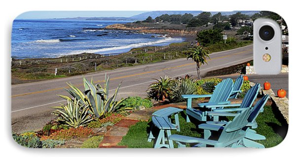 IPhone Case featuring the photograph Moonstone Beach Seat With A View by Barbara Snyder