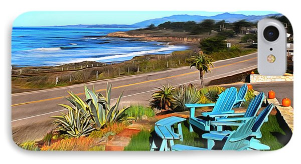 IPhone Case featuring the photograph Moonstone Beach Seat With A View Digital Painting by Barbara Snyder