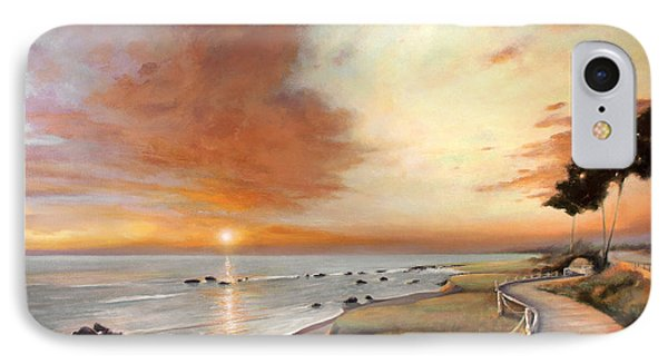 Moonstone Cambria Sunset IPhone Case by Michael Rock