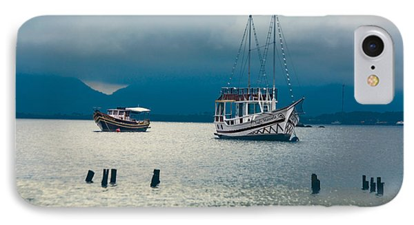 IPhone Case featuring the photograph Moored Boats by Kim Wilson