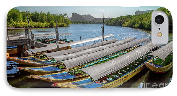 Moored Longboats IPhone Case by Adrian Evans