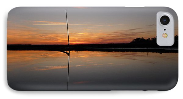 IPhone Case featuring the photograph Moored Near Saint Marys by Joel Deutsch