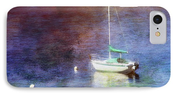 Moored Sailboat IPhone Case by Clare VanderVeen