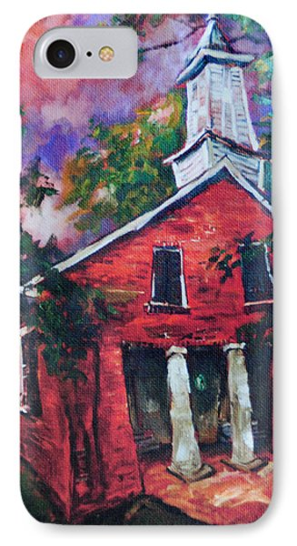 Mooresville Brick Church IPhone Case by Carole Foret