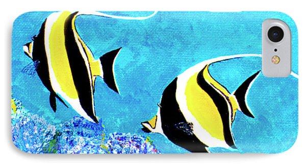 Moorish Idol Fish  #50 Phone Case by Donald k Hall