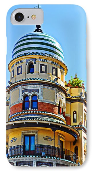 Moorish Tower With Hdr Processing IPhone Case by Mary Machare