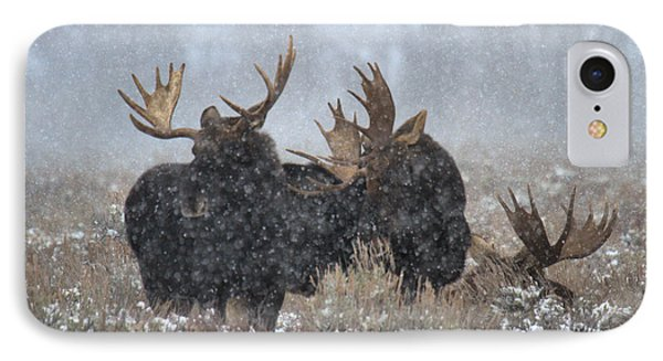 IPhone Case featuring the photograph Moose Antlers In The Snow by Adam Jewell