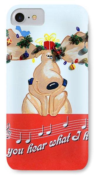 Moose Christmas Greeting IPhone Case