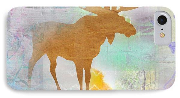 Moose In The Fog  IPhone Case by Claudia Schoen
