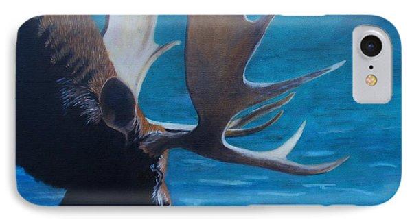Moose Lake IPhone Case by Jean Yves Crispo