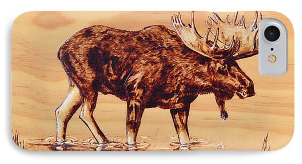 Moose Marsh IPhone Case by Ron Haist
