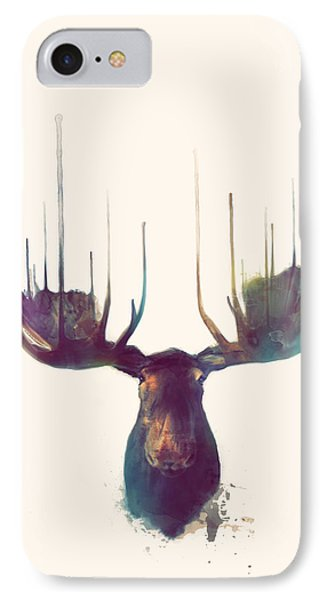 Moose // Squared Format IPhone Case by Amy Hamilton
