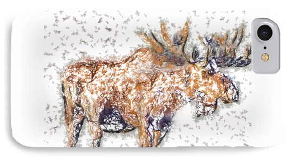 Moose-sticks IPhone Case by Elaine Ossipov