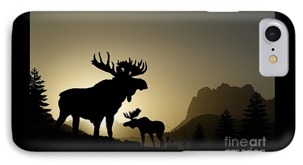 Moose Sunset IPhone Case by Anthony Djordjevic